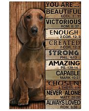 YOU ARE BEAUTIFUL DACHSHUND 11x17 Poster front