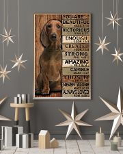 YOU ARE BEAUTIFUL DACHSHUND 11x17 Poster lifestyle-holiday-poster-1