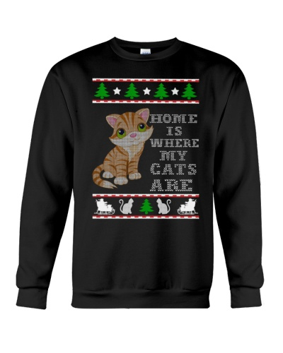 Home Is Where My Cats Are X-mas Ugly Sweater