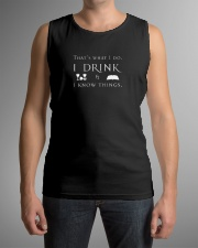 I Drink and I Know Things Sleeveless Tee lifestyle-unisex-tank-front-1