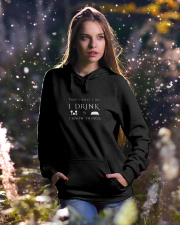 I Drink and I Know Things Hooded Sweatshirt lifestyle-holiday-hoodie-front-5