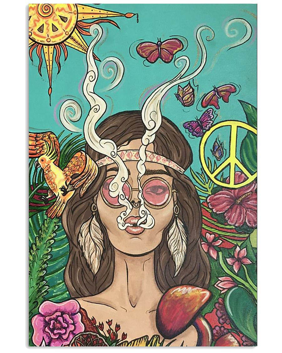 Hippie Girl Peace Poster Gift Made For Fans 24x36 Poster