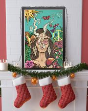 Hippie Girl Peace Poster Gift Made For Fans 24x36 Poster lifestyle-holiday-poster-4