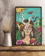 Hippie Girl Peace Poster Gift Made For Fans 24x36 Poster lifestyle-poster-3