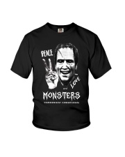 Yordreem Blakenstein PEACE LOVE AND MONSTERS Youth T-Shirt thumbnail