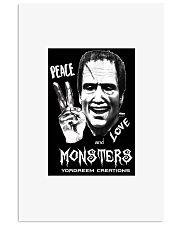 Yordreem Blakenstein PEACE LOVE AND MONSTERS 11x17 Poster thumbnail
