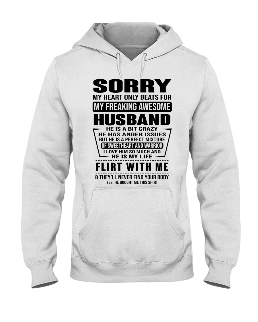MY FREAKING AWESOME HUSBAND- version Hooded Sweatshirt