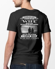 LOVE WIFE TO THE MOON AND BACK - TATTOOS Classic T-Shirt lifestyle-mens-crewneck-back-5