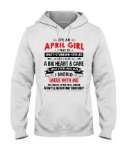 CRAZY GIRL 4 Hooded Sweatshirt front