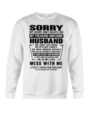 SORRRY-HUSBAND-TATTOOS Crewneck Sweatshirt thumbnail