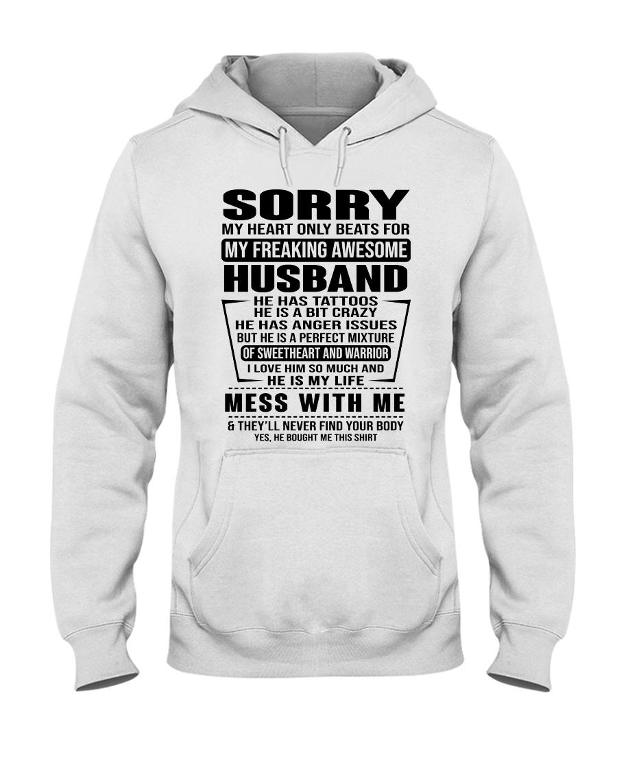 SORRRY-HUSBAND-TATTOOS Hooded Sweatshirt
