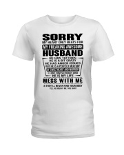 SORRRY-HUSBAND-TATTOOS Ladies T-Shirt thumbnail