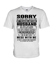 SORRRY-HUSBAND-TATTOOS V-Neck T-Shirt thumbnail