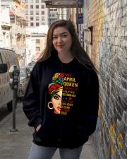 QUEEN-APRIL Hooded Sweatshirt lifestyle-unisex-hoodie-front-1