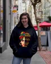 QUEEN-APRIL Hooded Sweatshirt lifestyle-unisex-hoodie-front-2