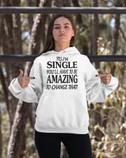 I AM SINGLE-PCC Hooded Sweatshirt apparel-hooded-sweatshirt-lifestyle-05
