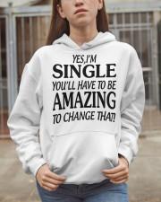 I AM SINGLE-PCC Hooded Sweatshirt apparel-hooded-sweatshirt-lifestyle-07