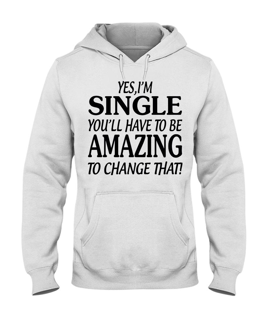 I AM SINGLE-PCC Hooded Sweatshirt