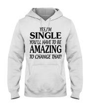 I AM SINGLE-PCC Hooded Sweatshirt front