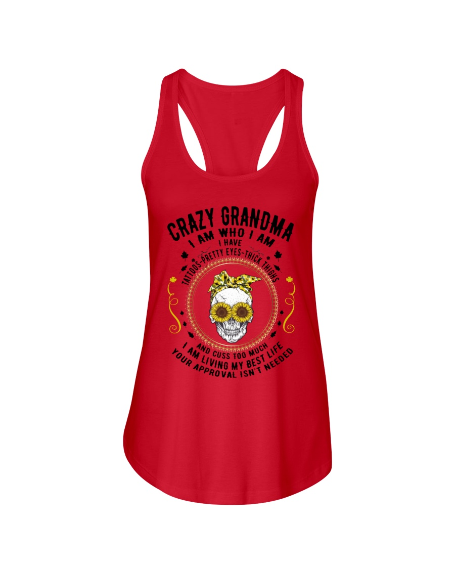 CRAZY GRANDMA - TATTOOS Ladies Flowy Tank