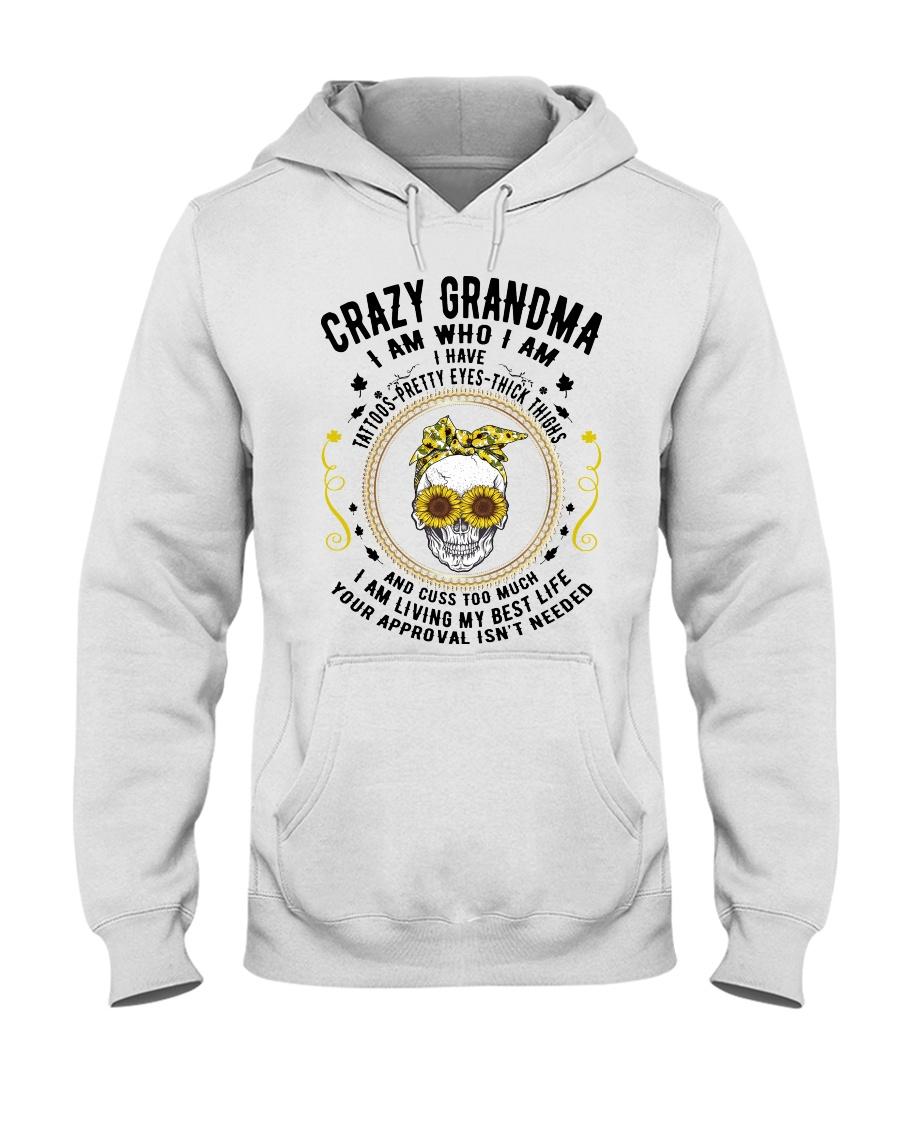 CRAZY GRANDMA - TATTOOS Hooded Sweatshirt