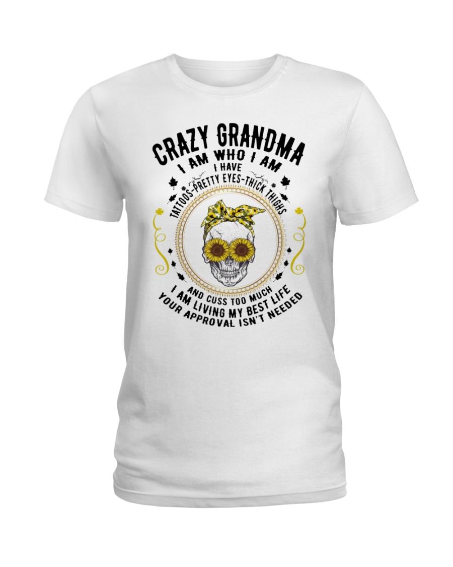 CRAZY GRANDMA - TATTOOS Ladies T-Shirt