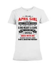 CRAZY GIRL 4 Premium Fit Ladies Tee tile
