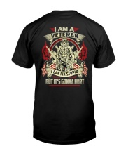 BOOM - I AM VETERAN Classic T-Shirt back