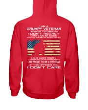 Limited Edition Prints - Veteran - United States Hooded Sweatshirt back