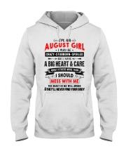 CRAZY GIRL 8 Hooded Sweatshirt front