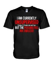 UNSUPERVISED - VTH V-Neck T-Shirt thumbnail