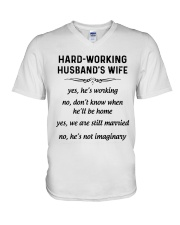 HARD WORKING version V-Neck T-Shirt thumbnail