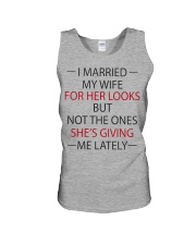 I MARRIED MY WIFE Unisex Tank thumbnail