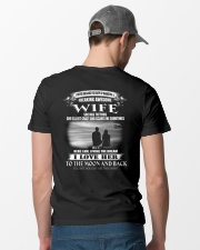 LOVE WIFE TO THE MOON AND BACK - TATTOOS Classic T-Shirt lifestyle-mens-crewneck-back-6