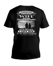 LOVE WIFE TO THE MOON AND BACK - TATTOOS V-Neck T-Shirt thumbnail