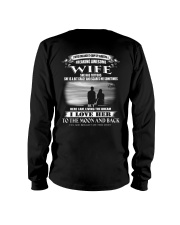 LOVE WIFE TO THE MOON AND BACK - TATTOOS Long Sleeve Tee thumbnail