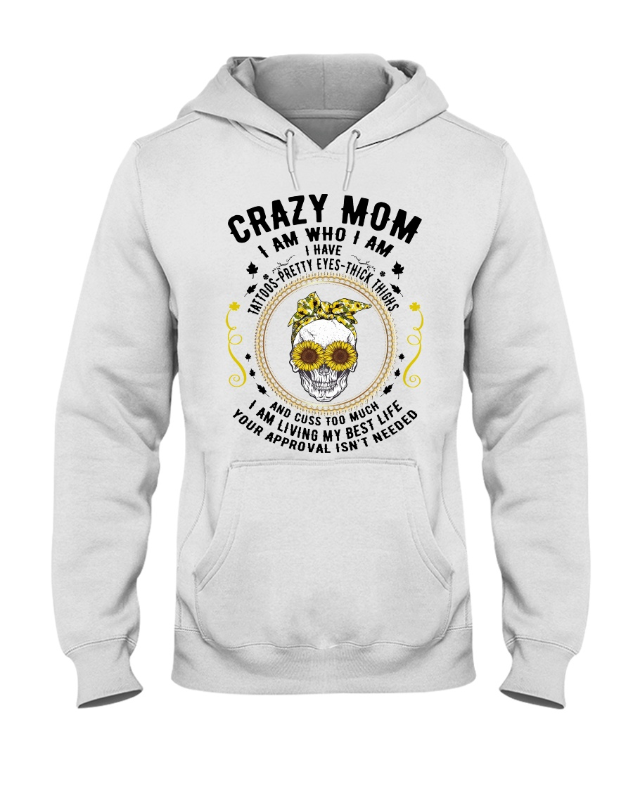 CRAZY MOM - TATTOOS Hooded Sweatshirt