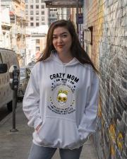 CRAZY MOM - TATTOOS Hooded Sweatshirt lifestyle-unisex-hoodie-front-1