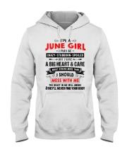 CRAZY GIRL 6 Hooded Sweatshirt front