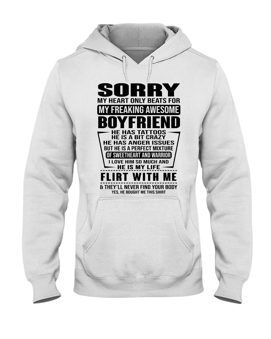 SORRRY-BOYFRIEND-TATTOOS Hooded Sweatshirt