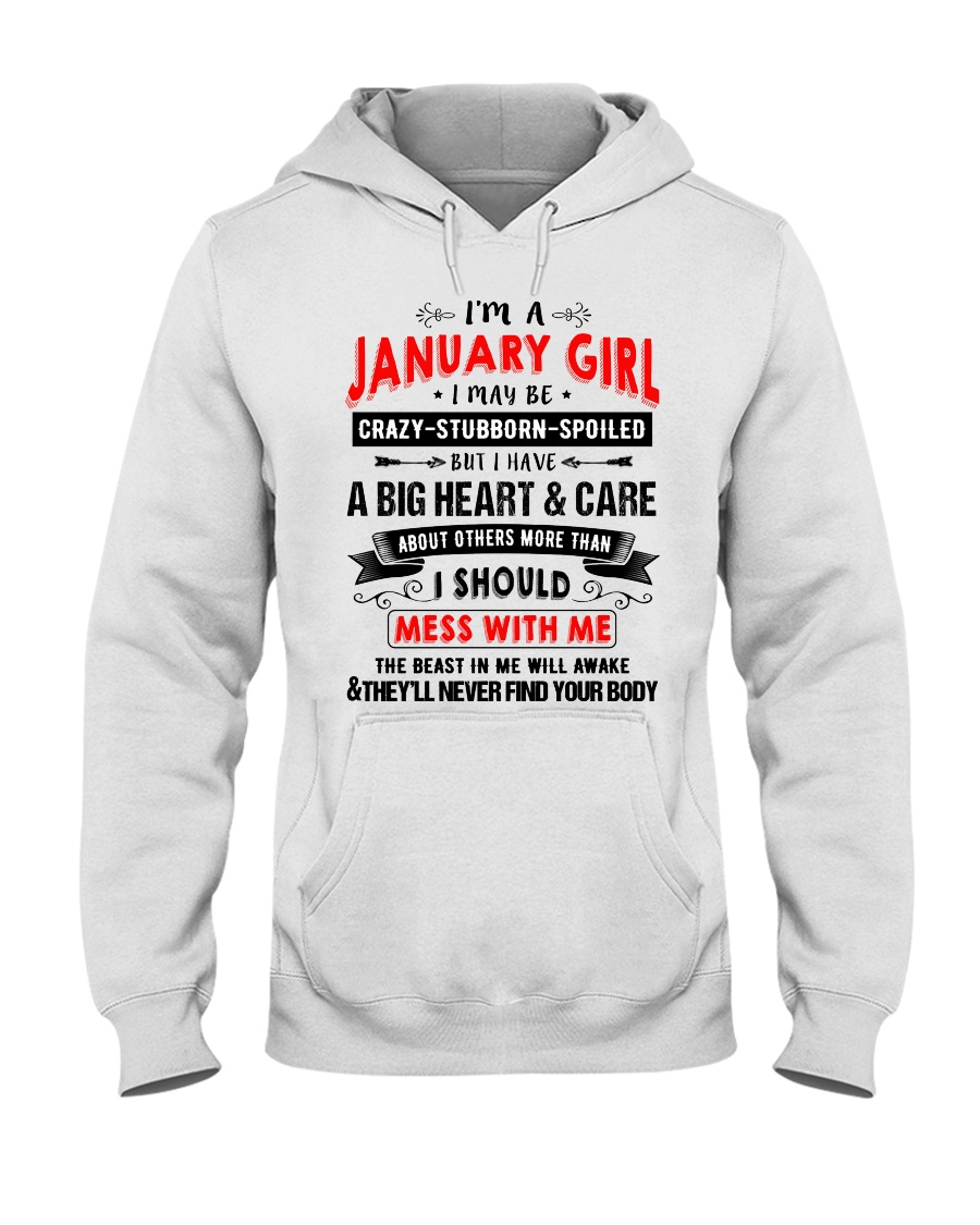 CRAZY GIRL 1 Hooded Sweatshirt