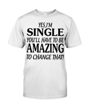 I AM SINGLE-PCC Classic T-Shirt thumbnail