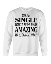 I AM SINGLE-PCC Crewneck Sweatshirt thumbnail