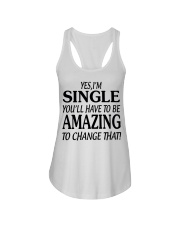 I AM SINGLE-PCC Ladies Flowy Tank thumbnail