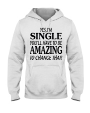 I AM SINGLE-PCC Hooded Sweatshirt front