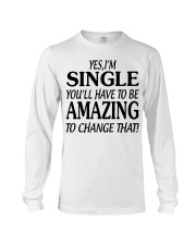 I AM SINGLE-PCC Long Sleeve Tee thumbnail