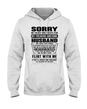 MY FREAKING AWESOME HUSBAND- version Hooded Sweatshirt front