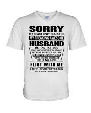 MY FREAKING AWESOME HUSBAND- version V-Neck T-Shirt thumbnail