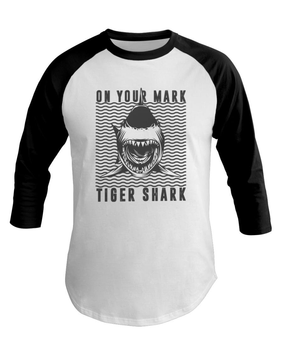 On Your Mark Tiger Shark Baseball Tee
