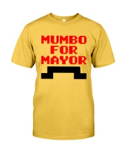 mumbo for mayor funny pixels funny Classic T-Shirt front